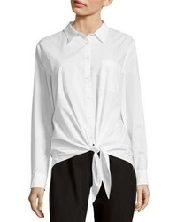 NYDJ Tie Front Cotton Shirt