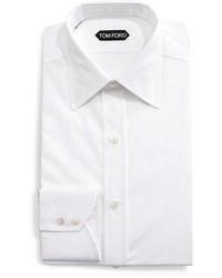 Tom Ford Solid Barrel Cuff Dress Shirt White