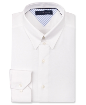 Tommy Hilfiger White Tab Collar Dress Shirt Where To Buy