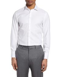 Thomas Pink Trim Fit Royal Oxford Dress Shirt