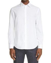 Emporio Armani Trim Fit Solid Button Up Shirt