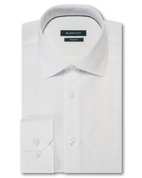 Bugatchi Trim Fit Solid Dress Shirt
