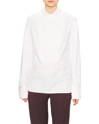 Valentino Embroidered Point Collar Shirt