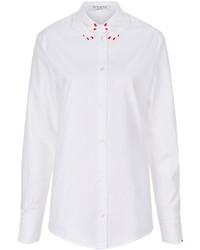 Vivetta White Cotton Hand Collar Shirt