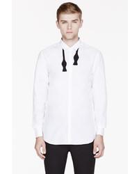 Neil Barrett White Bow Tie Appliqu Shirt