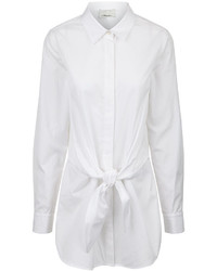 3.1 Phillip Lim White Cotton Front Knot Shirt