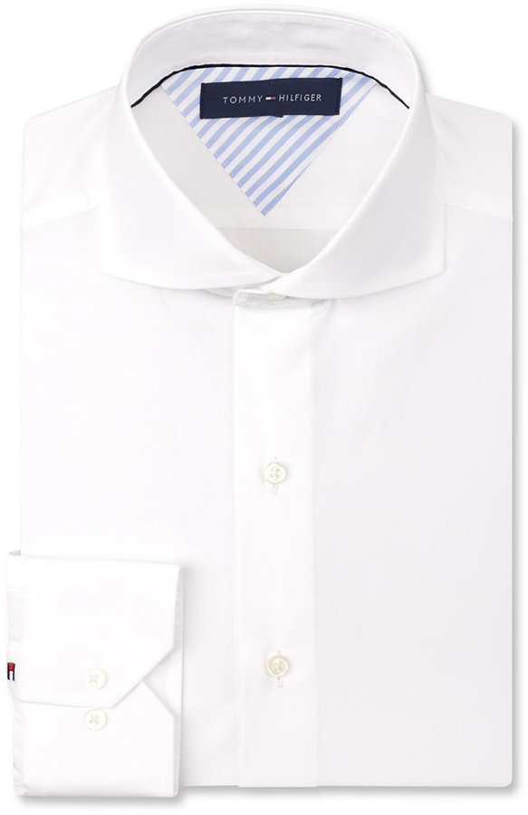 White cutaway collar dress shirts