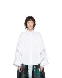 Comme des Garcons White Deconstructed Shirt