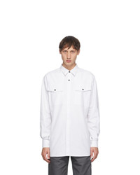 GR10K White Klopman Antistatic Dress Shirt