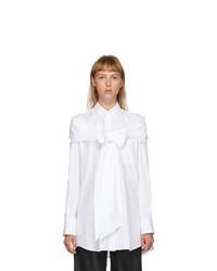 Simone Rocha White Masculine Bow Shirt