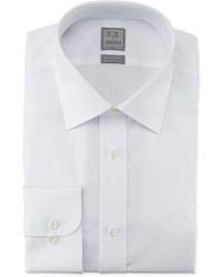 Ike Behar White On White Box Check Dress Shirt