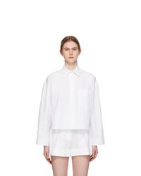 Valentino White Oversized Cropped Shirt