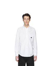 Palm Angels White Palm X Palm Ripped Oxford Shirt