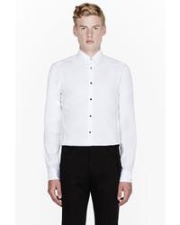 Versace White Screw Buttoned Dress Shirt