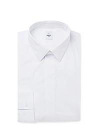Berluti White Slim Fit Cotton Blend Poplin Shirt