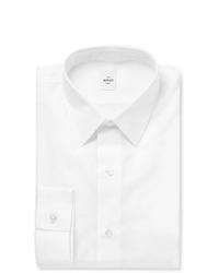 Berluti White Slim Fit Cotton Poplin Shirt
