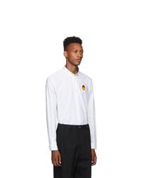 AMI Alexandre Mattiussi White Smiley Edition Oxford Shirt