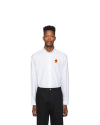 AMI Alexandre Mattiussi White Smiley Edition Oxford Shirt