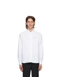 MAISON KITSUNÉ White Tricolor Fox Oxford Shirt