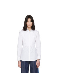 MM6 MAISON MARGIELA White Waist Cinching Bib Shirt