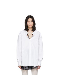 We11done White Zip Detail Long Sleeve Shirt