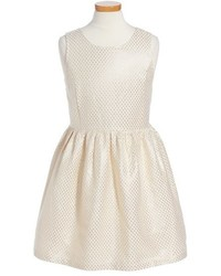 Ruby & Bloom Girls Sophie Metallic Dot Dress