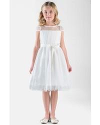 Us Angels Girls Point Desprit Dress