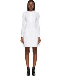 Saint Laurent White Broderie Anglaise Dress