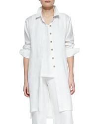 Go Silk Long Sleeve Linen Duster