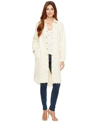 Brigitte Bailey Tess Button Up Long Denim Jacket Coat