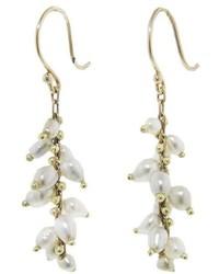 Ten Thousand Things Beaded Spiral Tahitian Pearl Earrings White