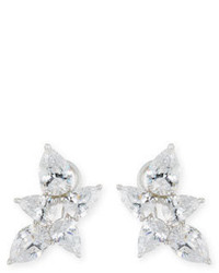 FANTASIA By Deserio Pear Shaped Cz Cluster Earrings