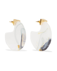 Ejing Zhang Chac Disc Resin And Gold Plated Earrings