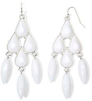 Jcpenney decree white chandelier earrings where to buy how to wear jcpenney decree white chandelier earrings aloadofball Image collections