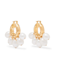 Eliou Kavala Gold Plated Pearl Earrings