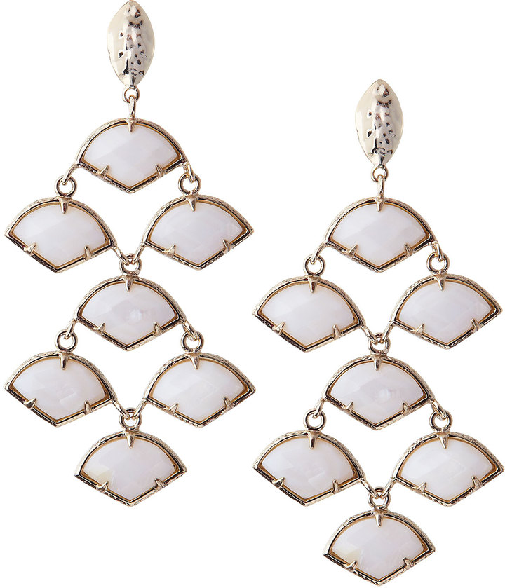 Kendra Scott Kinston Chandelier Earrings White
