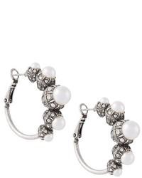 Lanvin Pearl Hoop Earrings