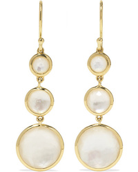 Ippolita Lollipop 18 Karat Gold Mother Of Pearl Earrings