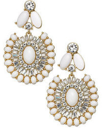 Kate Spade New York Gold Tone Capri Garden White Statet Earrings