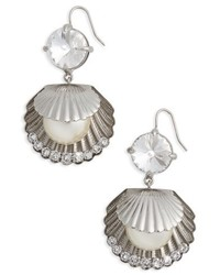 Miu Miu Shell Drop Earrings