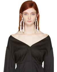 Proenza Schouler White Medium Hammered Earrings