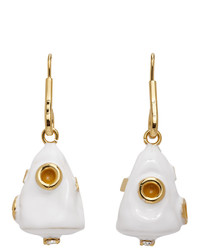 Marni White Metal Drop Earrings