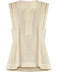Etoile Isabel Marant Isabel Marant Toile Adonis Embellished Cotton Blend Top