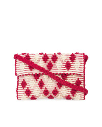 Antonello Tedde Texture Embroidered Clutch Bag