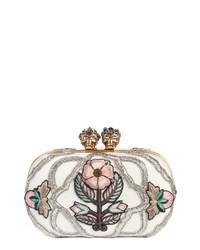 Alexander McQueen Queen King Embroidered Box Clutch
