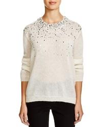 DKNY Embellished Semi Sheer Sweater