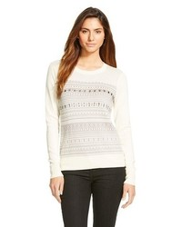 Merona Embellished Fair Isle Cardigan Tm