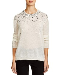 DKNY Embellished Semi Sheer Sweater
