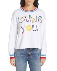 Alice + Olivia Gleeson Loving You Embellished Sweater