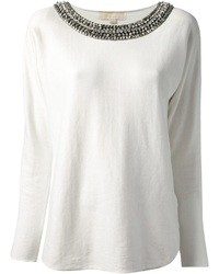 MICHAEL Michael Kors Michl Michl Kors Embellished Collar Sweater